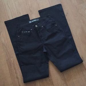 Sz 26 Hollywood Jeans Black Stretchy Pants